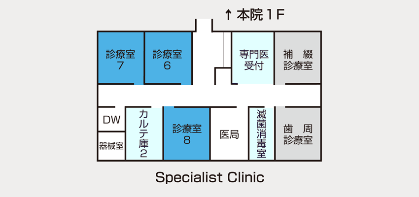 Specialist Clinic案内図
